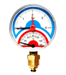 Термоманометр 4 бар, 120С, боковое подк. 1/2 арт.0508.101   9903
