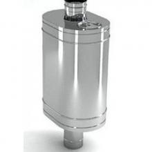 Бак на трубе для печи 60л.ДУ120,нержав,0.8 мм.(3/4)   8968 0