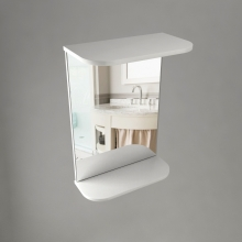 Шкаф навесной Лотос 450, зеркало R  9205