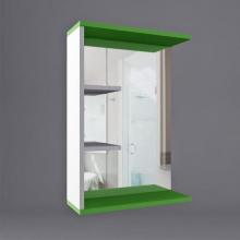 Шкаф навесной Лотос 600, зеркало,2 полки R   9191