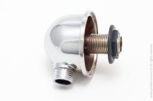 Уголок подвода воды (хром) металл премиум   9870
