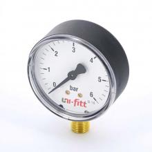 Манометр радиальный 10бар,Д63мм,1/4Н Uni-Fitt   8984 0