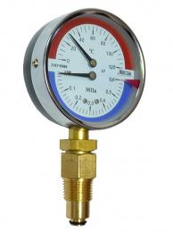 Термоманометр ДМТ 05080 0,1 МПа-0-120-2,5 (б НДС)   8920 0