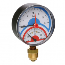 Термоманометр радиальный 0-4 АТМ.0-120 (258)  6272 0