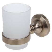 Стакан одинарный настенный (стекло) P2606 (бронза)    10019