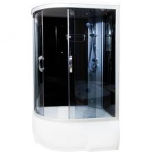 Душевая кабина ВМ-8811 100*100*215 выс.поддон,черн. стен.,стекла тонир.  9828