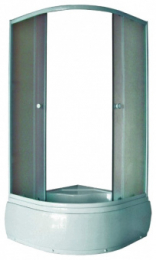 Душевой уголок F207 195*80*80 в/п матовые стекла   9597