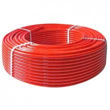 Труба PEX с кислородным барьером Д16*2.0 200 МТ красная    10235