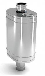 Бак на трубе для печи 50л.ДУ115,нержав,0.8 мм.(3/4) нов пер  10163