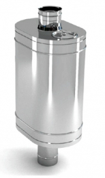 Бак на трубе для печи 60л.ДУ115,нержав,0.8 мм.(3/4) нов 9721