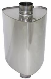 Бак на трубе для печи Урал 60л.ДУ115,нержав,0.8 мм.(3/4)   10157 0