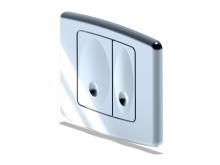 Клавиша д/системы скрытой установки д/унитаза(инсталяии) хром WP1110   10122