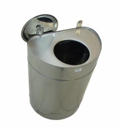Бак для теплообменника 80л.,0.8 мм.,вертикальный, нержав(3/4)   10268