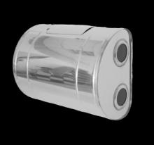 Бак для теплообменника 80л.,0.8 мм.,горизонтальный, AISI 439 (штуцер 3/4)   10564 0