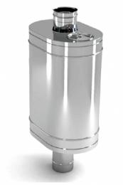 Бак на трубе для печи 80л.ДУ115,AISI,439/0.8 мм.(3/4)   10683 0