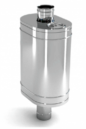Бак на трубе для печи 60л.ДУ120,нержав,0.8 мм.(3/4) (нов) пер 10286