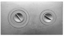 Плита двухкомфорочная П2-1 (Б) 585*340    10279