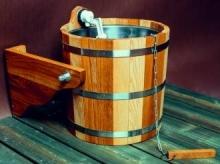 Обливное устройство банное Woodson 16 л дуб с нержавеющей вставкой  10759 0
