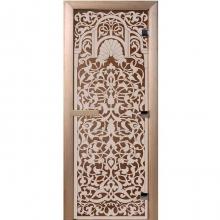 Дверь стеклянная Флоренция(стекло бронза 6мм,2 петли) 1900*700  10770 0
