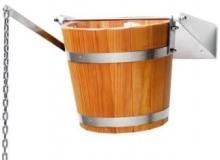 Обливное устройство банное Woodson 20 л дуб с нержавеющей вставкой  10758 0