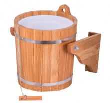 Обливное устройство банное Woodson 20 л дуб с пластиковой вставкой  10766