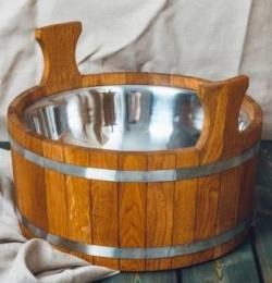 Шайка банная Woodson 15 л дуб с нержавеющей вставкой  10760