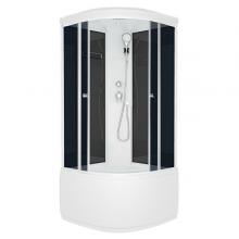 Душ.кабина Domani-SPA Light(110)hign NEW 100*100*217 черн..стен.тон.стек,выс.подд.  8858